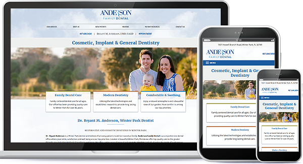 Anderson Family Dental Website and Logo Design