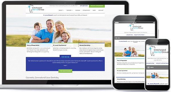 Crestwood Dental Group Website