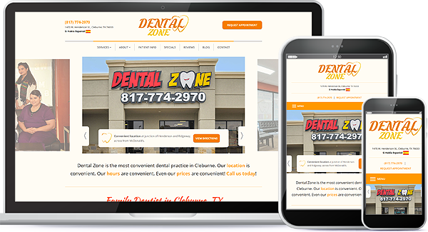 Dental Zone Web Design