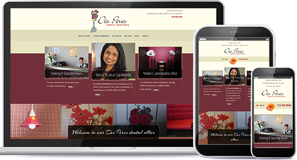 Des Peres Family Dentistry Web Design