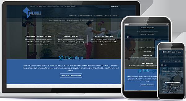 Web Design for District Dental Center