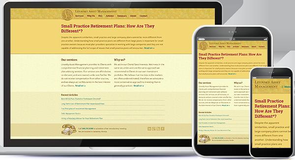 Litovsky Asset Management Website & Logo Design