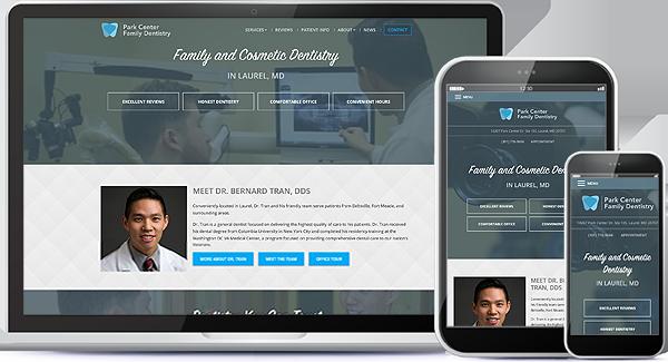 Park Center Family Dentistry Website