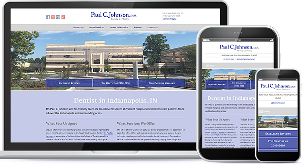 Paul C. Johnson, DDS Family Dentistry Website