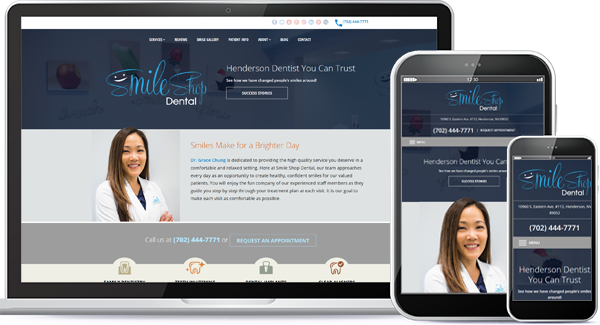 Smile Shop Dental Website Design