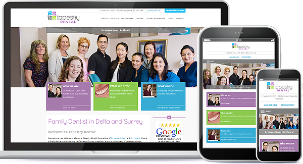 Tapestry Dental Website & Logo Design