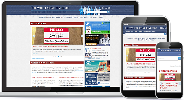 White Coat Investor Website Design
