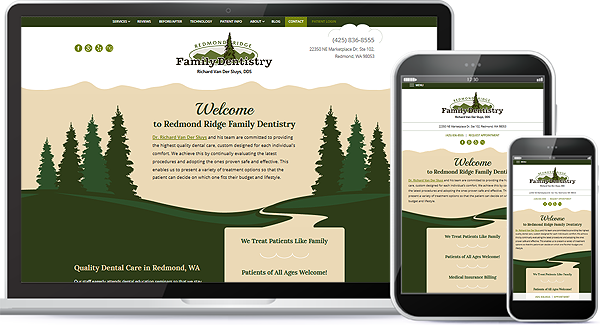 Redmond Ridge Family Dentistry Website