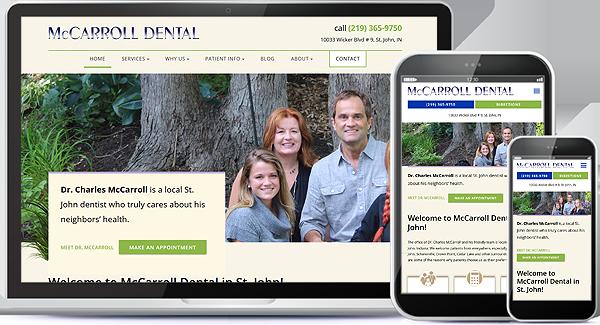 McCarroll Dental Website Design