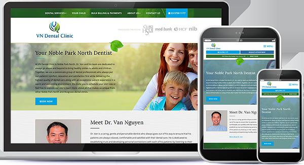 VN Dental Clinic Website Design