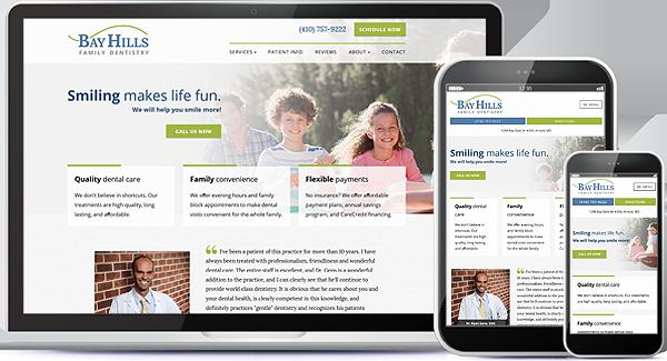 Bay Hills Family Dentistry Website