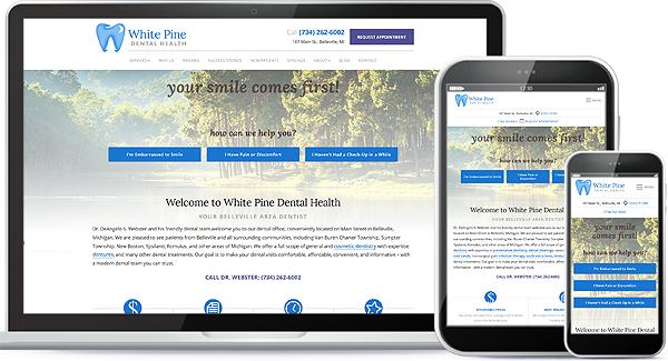White Pine Dental Health Website