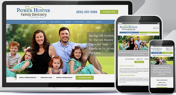 Patrick Hunter Family Dentistry Website
