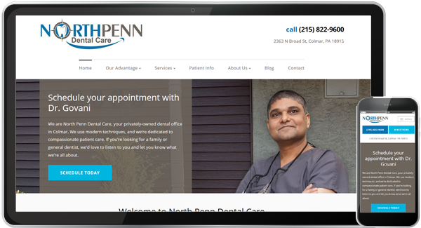 North Penn Dental Care Website