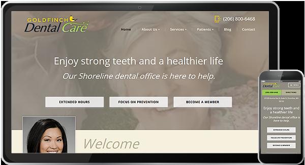 Goldfinch Dental Care Website