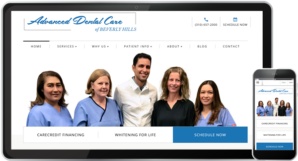 Advanced Dental Care of Beverly Hills Website