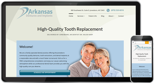 Arkansas Dentures and Implants Website