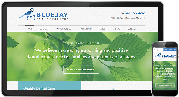 Bluejay Family Dentistry Website