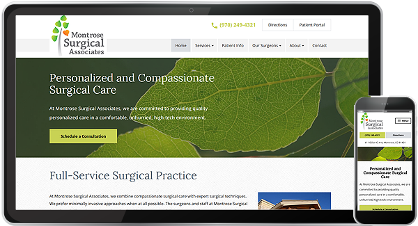 Montrose Surgical Associates Website