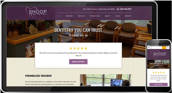 Shoop Dentistry Website