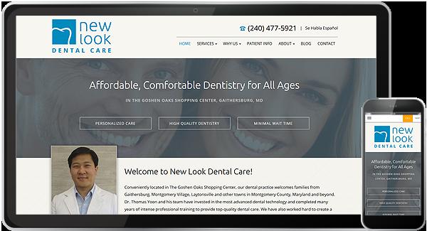 New Look Dental Care Website