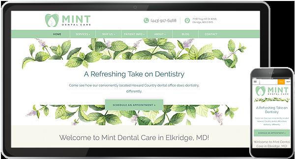 Mint Dental Care Website