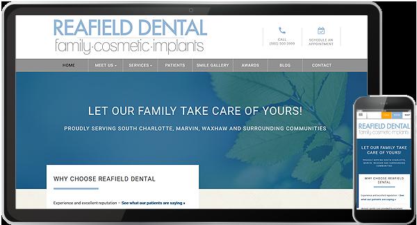Reafield Dental Website