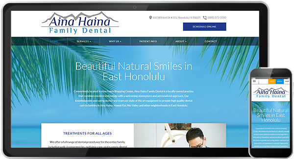 Aina Haina Family Dental Website