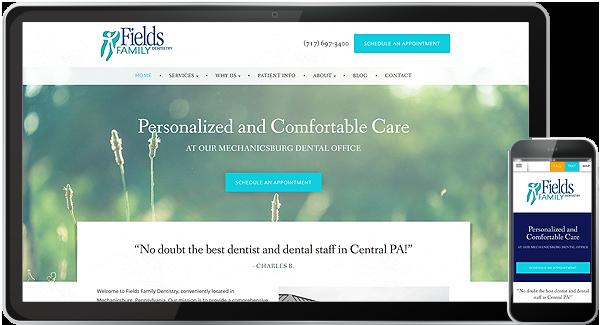 Fields Family Dentistry Website