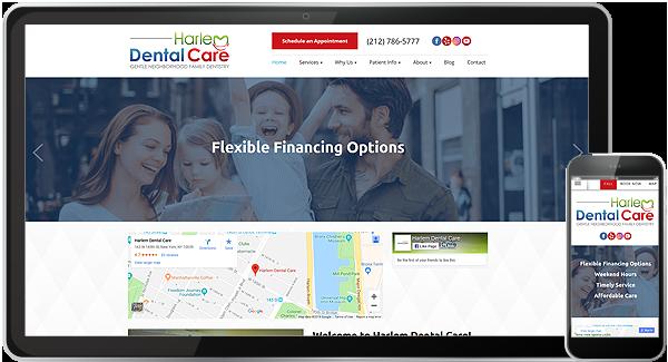 Harlem Dental Care Website