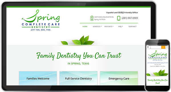 Spring Complete Care Dentistry Website