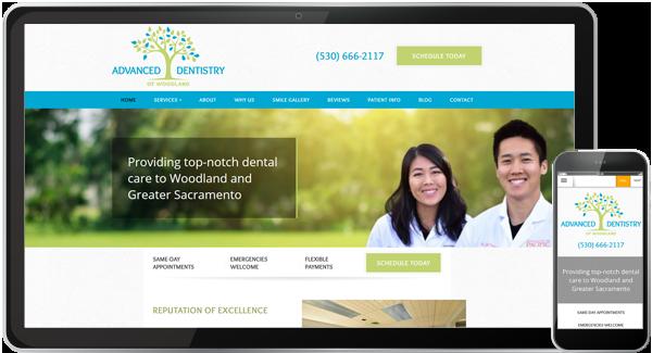 Advanced Dentistry of Woodland Website
