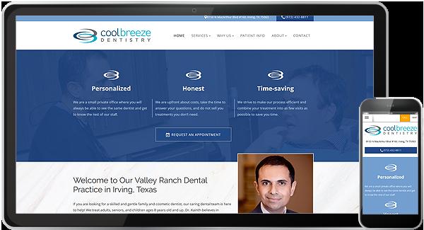 Coolbreeze Dentistry Website