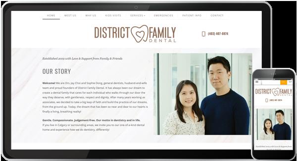 District Family Dental Website