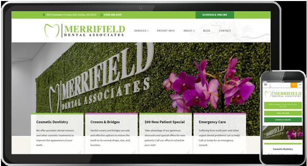 Merrifield Dental Associates Website