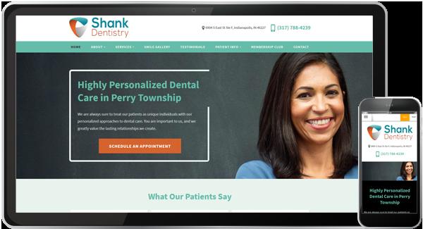 Shank Dentistry Website