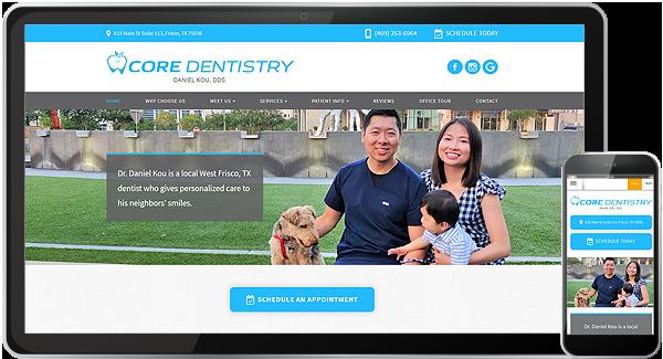 Core Dentistry Website