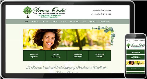 Seven Oaks Oral and Maxillofacial Surgery Website