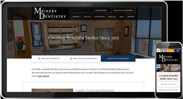 Meiners Dentistry Website