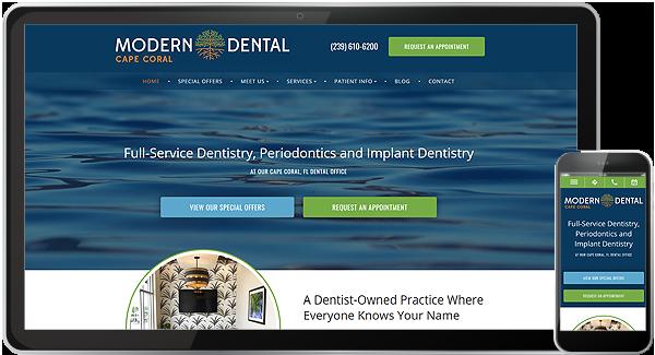 Modern Dental Cape Coral Website
