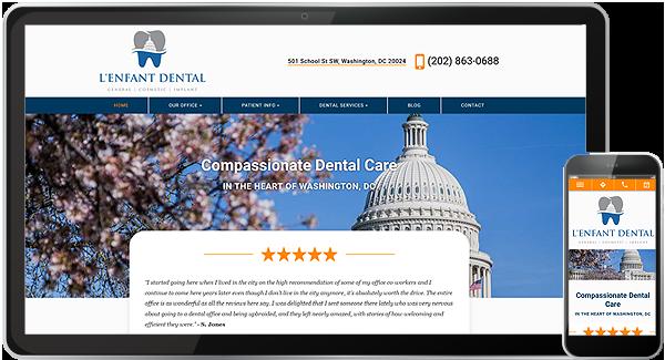 L'Enfant Dental Website