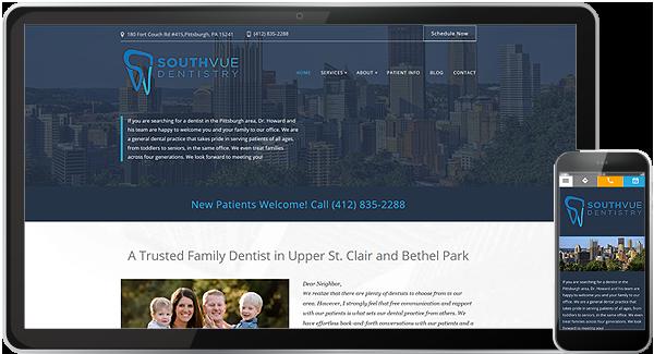 South Vue Dentistry Website