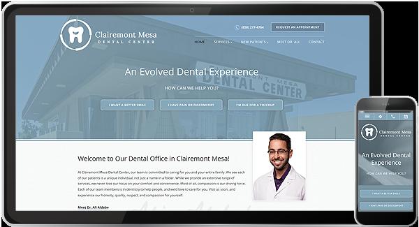 Clairemont Mesa Dental Center Website