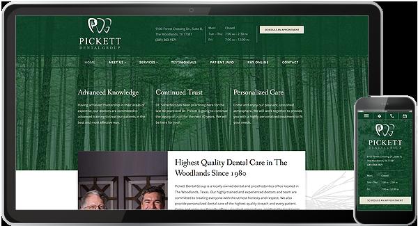 Pickett Dental Group Website