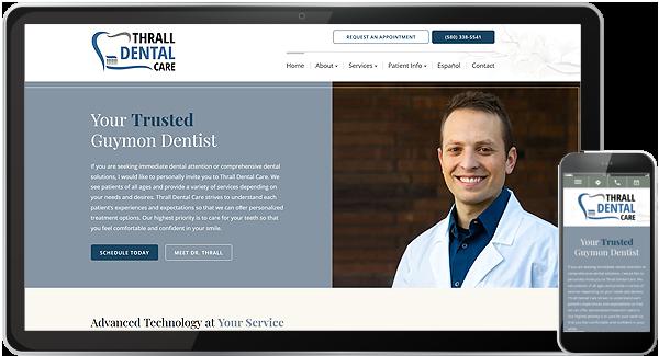 Thrall Dental Care Website