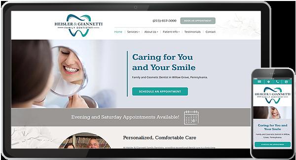Heisler & Giannetti Family Dentistry Website