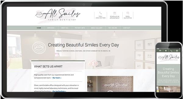 All Smiles Family Dentistry Website