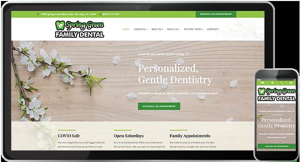 Spring Green Family Dental Website
