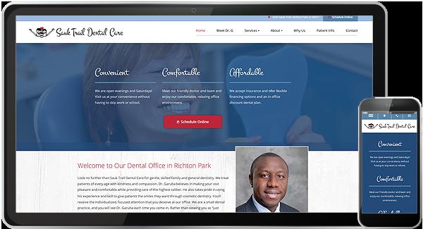 Sauk Trail Dental Care Website