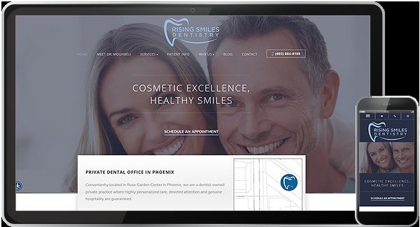 Rising Smiles Dentistry Website